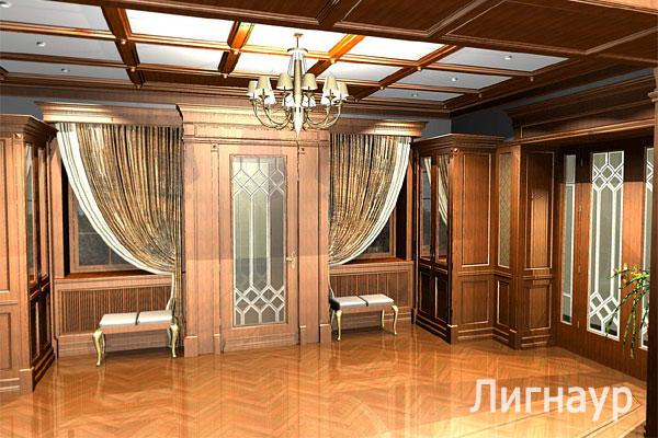 Эскизный проект холл в жилом доме