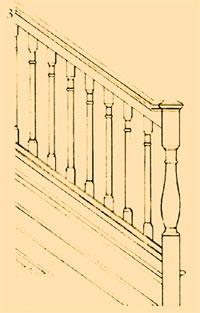 Деревянные лестницы Колониальный период