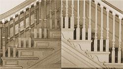 лестницы из дерева Колониальный период