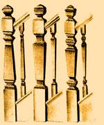 деревянные стойки перил